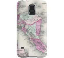 Vintage Map of Central America (1864) Samsung Galaxy Case/Skin