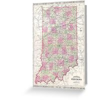Vintage Map of Indiana (1864) Greeting Card