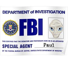 Paul the Alien's FBI ID Poster