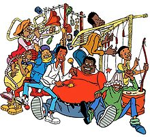 Fat Albert and the Junkyard Gang by gamac74