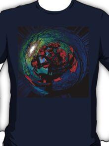 Sun Mandala With Tulips Mandala Recursive T-Shirt