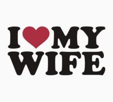 I love heart my wife by Designzz