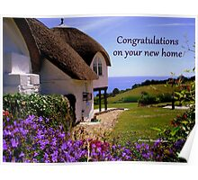 New Home -  Greeting Card  Poster