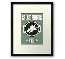 Salamanders XVIII - Warhammer Framed Print