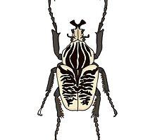 Goliath Beetle doodle by thyearlofgrey