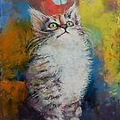 Kitten and Butterfly by Michael Creese