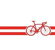 Bike Stripes Austria Photographic Print