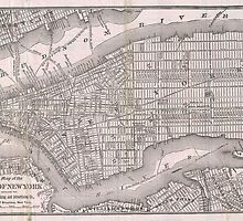 Vintage Map of New York City (1886)  by BravuraMedia