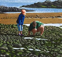 Rockpooling with Dad by Linda Marques