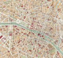 Vintage Map of Paris (1892) Sticker