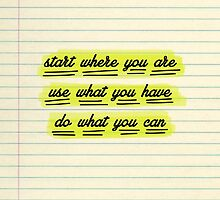 Start Where You Are by WorldSchool