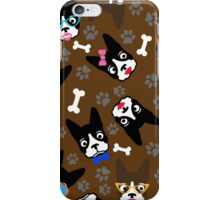 Boston Terrier Funny Faces Brown iPhone Case/Skin