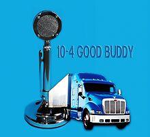 TRUCKERS CB D-104 LOLLIPOP CB MICROPHONE & TRUCK CARD/PICTURE by ✿✿ Bonita ✿✿ ђєℓℓσ