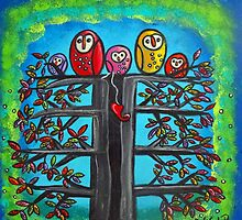 The Owl Family II by Juli Cady Ryan