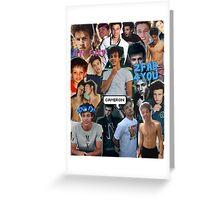 Cameron Dallas Collage Greeting Card