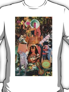 Red Indian with Artists Work. T-Shirt