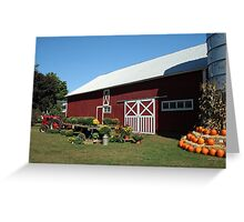 Red Barn at Harvest Time, 1500 views! Greeting Card