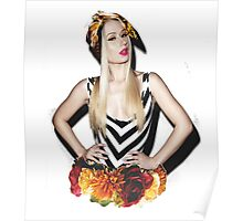 Iggy Floral Poster