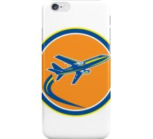Commercial Jet Plane Airline Flying Retro iPhone Case/Skin