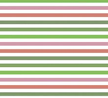 Pink Roses in Anzures 3 Stripes 1H by Christopher Johnson