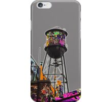Water tower graffiti iPhone Case/Skin