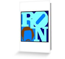 Ron Love (Anchorman) Greeting Card