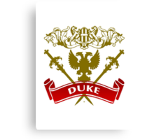 Fit For A Duke Coat-of-Arms Canvas Print