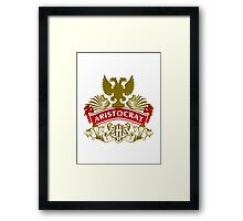 Fit For An Aristocrat Coat-of-Arms Framed Print