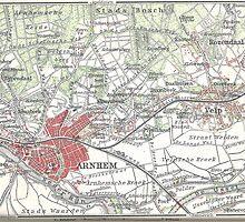 Vintage Map of Arnhem and Surrounding Areas (1905)  by BravuraMedia