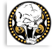 Gold Revolver Skull Canvas Print
