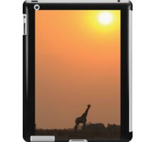 Giraffe Solitude of Gold - African Wildlife iPad Case/Skin