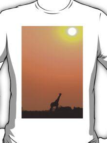 Giraffe Solitude of Gold - African Wildlife T-Shirt
