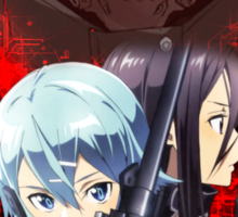 Sword Art Online 2 - Kirito, Sinon, Death Gun Red Version Sticker