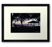 April Twilight in Florida Framed Print