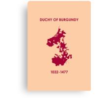 Duchy of Burgundy Canvas Print
