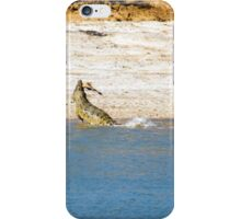Saltwater Crocodile Eating 3/6 iPhone Case/Skin