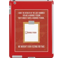 Aperture Science Portal Horrible Person iPad Case/Skin