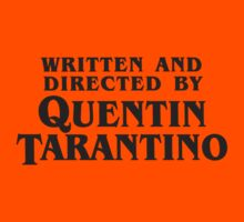 Written and Directed by Quentin Tarantino (dark) Kids Clothes