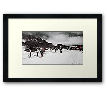 Channels of Red Framed Print