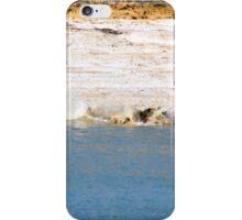 Saltwater Crocodile Eating 6/6 iPhone Case/Skin