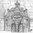 Batalha Monastery window. freehand sketch by terezadelpilar~ art & architecture