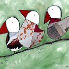 3 Little birds sitting in a tree by Jody  Pratt