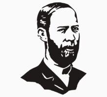 Heinrich Rudolf Hertz Stencil by tlau
