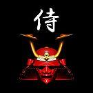 Red Kabuto (Samurai helmet) phone cases by Steve Crompton