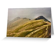 On top of the world - Snowdon Greeting Card