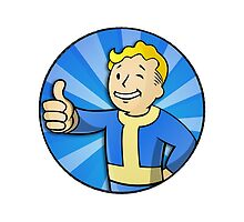 Fallout 3 Vault Boy - Blue by martdude