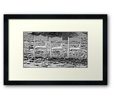 Three Chairs Framed Print