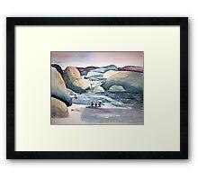 Penguin Chat at Boulders Beach Framed Print