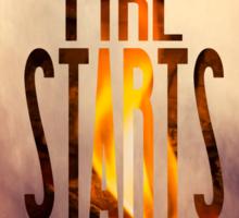 Disclosure - When A Fire Starts To Burn  Sticker