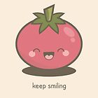 Keep Smiling Kawaii Tomato by Lisa Marie Robinson